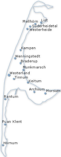 Karte Insel Sylt